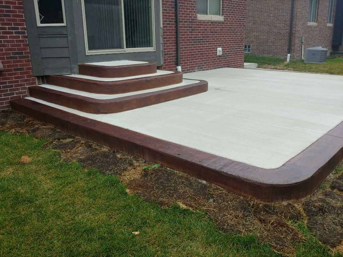 stamped concrete walls